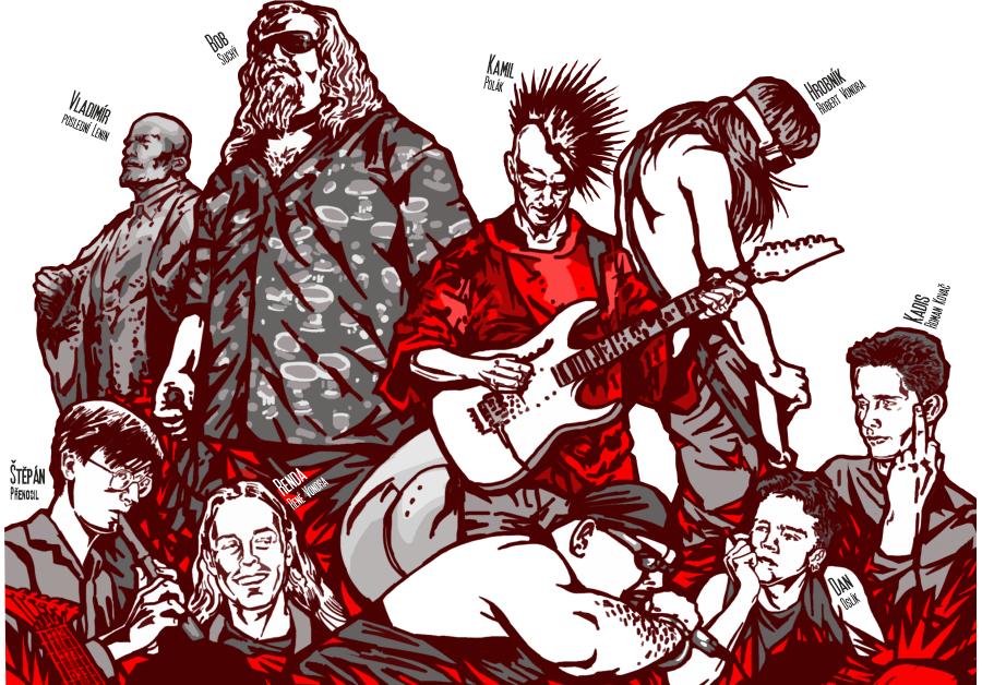 Si - ilustrace členů kapely